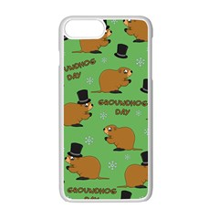 Groundhog Day Pattern Apple Iphone 7 Plus Seamless Case (white)