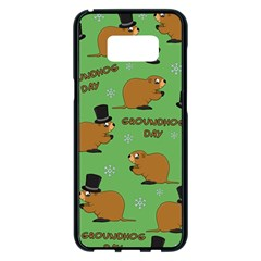 Groundhog Day Pattern Samsung Galaxy S8 Plus Black Seamless Case
