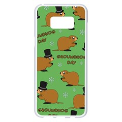 Groundhog Day Pattern Samsung Galaxy S8 Plus White Seamless Case