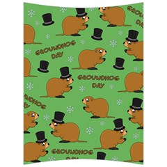 Groundhog Day Pattern Back Support Cushion