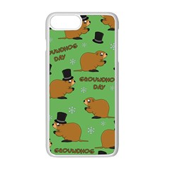 Groundhog Day Pattern Apple Iphone 8 Plus Seamless Case (white)