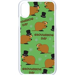 Groundhog Day Pattern Apple Iphone Xs Seamless Case (white)