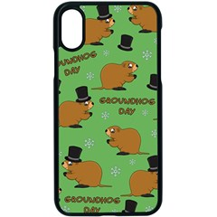 Groundhog Day Pattern Apple Iphone Xs Seamless Case (black)