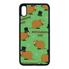 Groundhog Day Pattern Apple Iphone Xs Max Seamless Case (black)