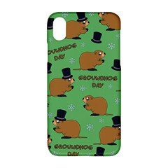 Groundhog Day Pattern Apple Iphone Xr Hardshell Case