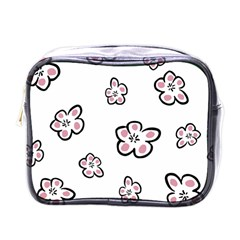 Plum Seamless Flower Mini Toiletries Bag (one Side) by Mariart