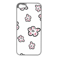 Plum Seamless Flower Apple Iphone 5 Case (silver) by Mariart