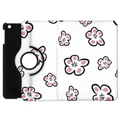 Plum Seamless Flower Apple Ipad Mini Flip 360 Case by Mariart