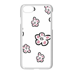 Plum Seamless Flower Apple Iphone 8 Seamless Case (white)