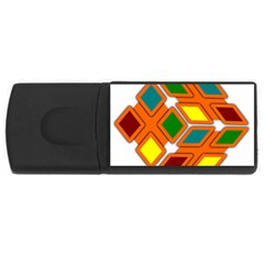 Shape Plaid Rectangular Usb Flash Drive