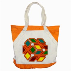 Shape Plaid Accent Tote Bag