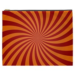Spiral Swirl Background Vortex Cosmetic Bag (xxxl) by Mariart