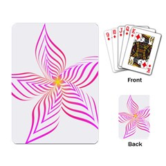 Petal Flower Playing Cards Single Design