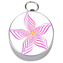 Petal Flower Silver Compasses by Mariart