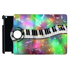 Piano Keys Music Colorful Apple Ipad 2 Flip 360 Case by Mariart