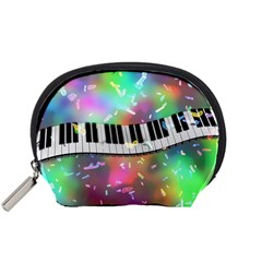 Piano Keys Music Colorful Accessory Pouch (small) by Mariart