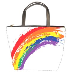 Watercolor Painting Rainbow Bucket Bag by Mariart