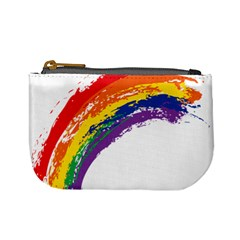 Watercolor Painting Rainbow Mini Coin Purse