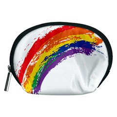 Watercolor Painting Rainbow Accessory Pouch (medium) by Mariart