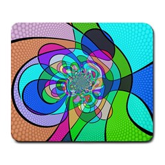 Retro Wave Background Pattern Large Mousepads
