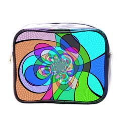 Retro Wave Background Pattern Mini Toiletries Bag (one Side)