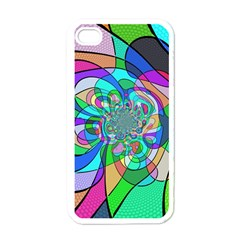 Retro Wave Background Pattern Apple Iphone 4 Case (white) by Mariart