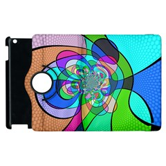 Retro Wave Background Pattern Apple Ipad 2 Flip 360 Case by Mariart