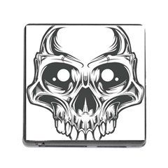 Illustration Skull Memory Card Reader (square 5 Slot)