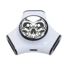 Illustration Skull 3 Port Usb Hub