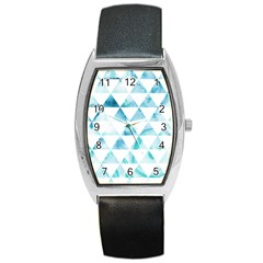Hipster Triangle Pattern Barrel Style Metal Watch