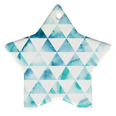 Hipster Triangle Pattern Star Ornament (two Sides)