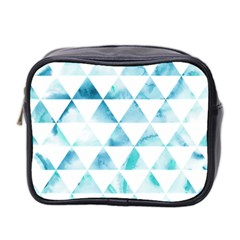 Hipster Triangle Pattern Mini Toiletries Bag (two Sides) by AnjaniArt