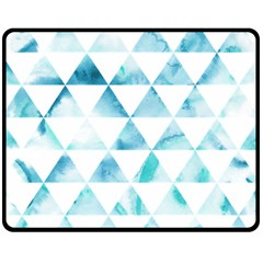 Hipster Triangle Pattern Double Sided Fleece Blanket (medium)