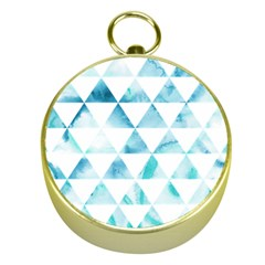 Hipster Triangle Pattern Gold Compasses by AnjaniArt