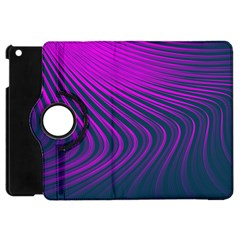 Line Geometric Blue Pink Apple Ipad Mini Flip 360 Case by AnjaniArt