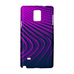 Line Geometric Blue Pink Samsung Galaxy Note 4 Hardshell Case