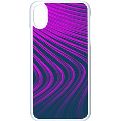 Line Geometric Blue Pink Apple Iphone X Seamless Case (white)