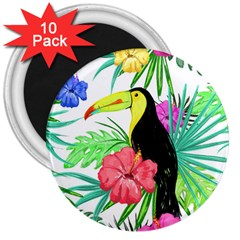 Leaves Tropical Nature Green Plan 3  Magnets (10 Pack)