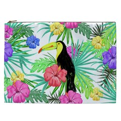 Leaves Tropical Nature Green Plan Cosmetic Bag (xxl)