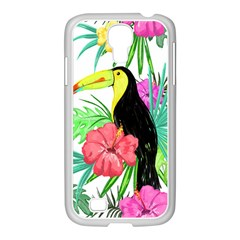 Leaves Tropical Nature Green Plan Samsung Galaxy S4 I9500/ I9505 Case (white) by AnjaniArt