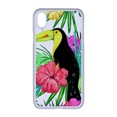 Leaves Tropical Nature Green Plan Apple Iphone Xr Seamless Case (white)