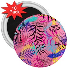 Illustration Reason Leaves 3  Magnets (10 Pack)  by AnjaniArt