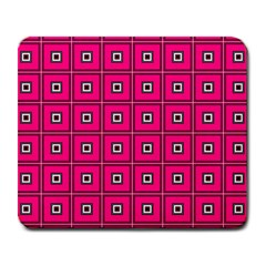 Pink Pattern Squares Large Mousepads by AnjaniArt