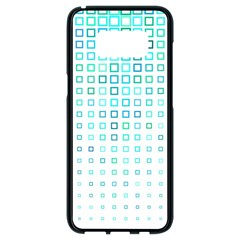 Plaid Green Samsung Galaxy S8 Black Seamless Case