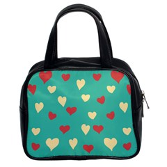 Love Heart Valentine Classic Handbag (two Sides)
