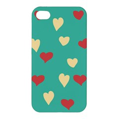 Love Heart Valentine Apple Iphone 4/4s Premium Hardshell Case by AnjaniArt