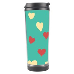 Love Heart Valentine Travel Tumbler by AnjaniArt