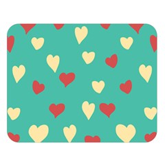 Love Heart Valentine Double Sided Flano Blanket (large)  by AnjaniArt