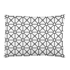 Mesh Pattern Grid Line Pillow Case (two Sides)