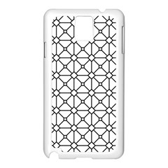Mesh Pattern Grid Line Samsung Galaxy Note 3 N9005 Case (white)